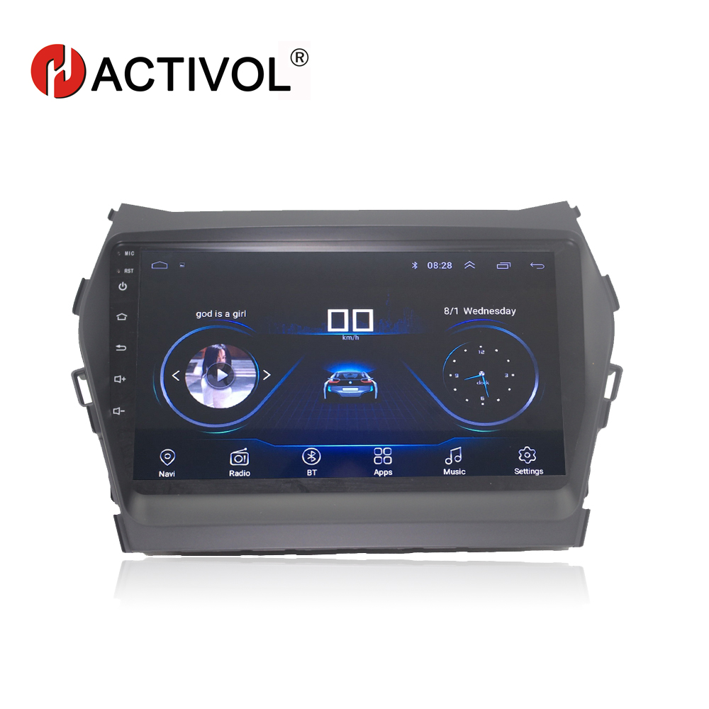 HACTIVOL 9 1024*600 Quadcore android 8.1 car radio for Hyundai IX45 SANTA FE 2013 car DVD player GPS Navi wifi bluetooth