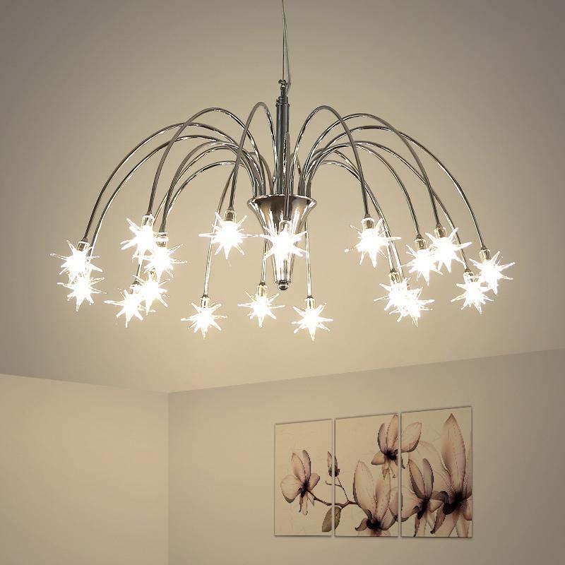 Design italien étoile lustre lampe salon chambre enfants chambre fille lustre intérieur maison luminaire design suspension