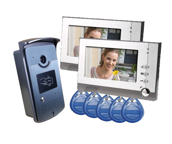 YobangSecurity Home Security Video Intercom 7Inch Monitor Video Door Phone Doorbell Intercom Camera RFID Access Control SystemYobangSecurity Home Security Video Intercom 7Inch Monitor Video Door Phone Doorbell Intercom Camera RFID Access Control System