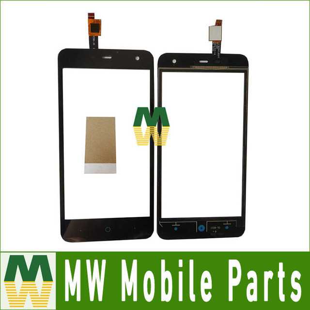 1PC/Lot Black color High Quality 5.0'' For ZTE Blade L4 pro A475 T610 Touch Screen Digitizer Touch Panel  With Tape