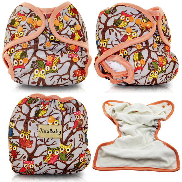 JinoBaby Cloth Pocket Diaper Baby Diapers Washable (with bamboo insert)