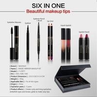 New 9 Pcs Makeup Set Matte Lipstick Lip Gloss Lipliner Set Sexy Pencil Red Long Lasting