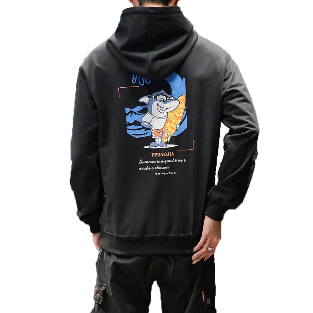 M-5XL ptint Dos desenhos animados dos Homens Hoodies E Camisolas de Moda Casual Hip Hop streetwear camisolas dos homens moletom com capuz de impressão dos homens