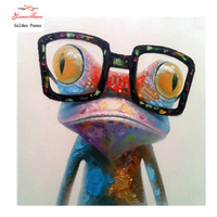 DIY 5D Full Square Diamond Ful DIY Diamond Painting The Frog With Glasses Embroidery Cross Stitch