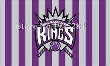 Sacramento Kings Flag New 3x5ft 90x150cm Polyester NBA Flag Banner 1021,  free shipping
