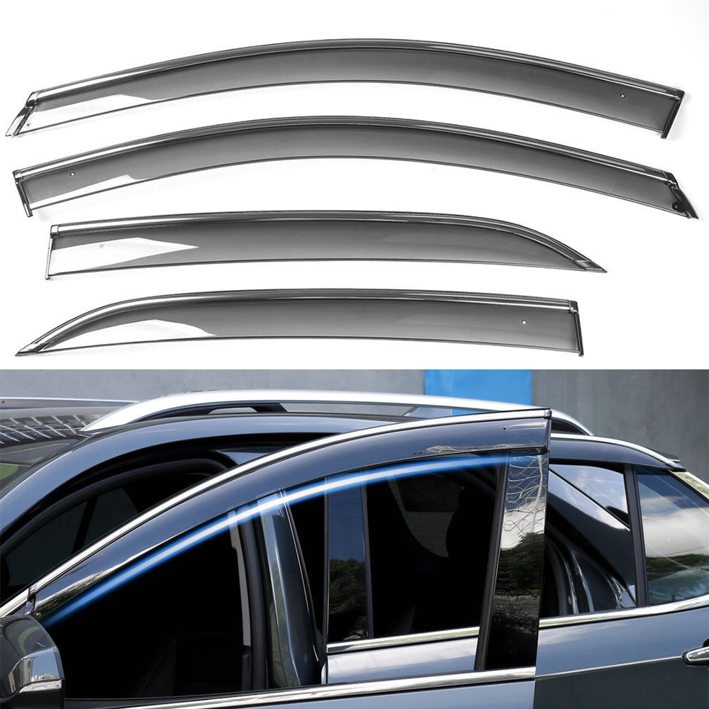 Pare-soleil en acier inoxydable pour fenêtre de voiture pare-soleil pare-pluie pour 2017 2018 accessoires Chevrolet Equinox style de voiture
