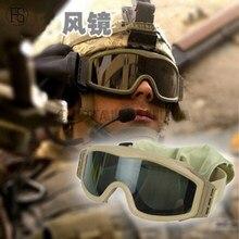 Verde Marrón negro Airsoft Tactical Goggles USMC Army Airsoft Paintball Táctico gafas de Sol Gafas Gafas