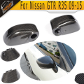 R35 Carbon Fiber Rear View Side Mirror Cover for Nissan GTR R35 2009 - 2015 Replaced Style Mirror Cap