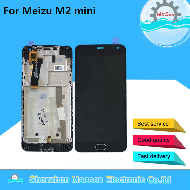 M&Sen For 5.0 Meizu M2 Mini M578M M578U M578H M578 LCD Screen Display+Touch Panel Digitizer Frame For Meizu M2 Mini Assembly