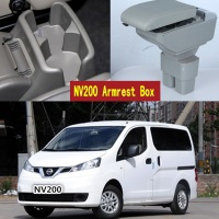 For Nissan NV200 armrest box central Store content box with cup holder ashtray USB NV200 armrests box