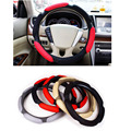 "Universal Car Steering Wheel Cover 38cm 15"" 3D Sandwich Steering-Wheel Cover sport stuurhoes Breathable Skidproof funda volante"