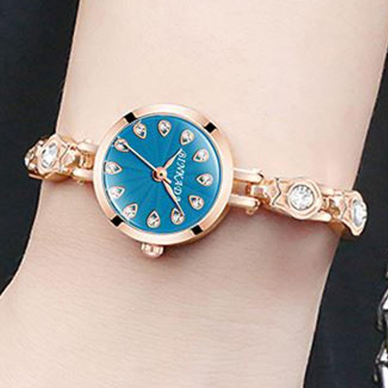 Zegarek bransoletka żeński prosty wodoodporny zegarek kwarcowy - Zegarki damskie - Zdjęcie 3