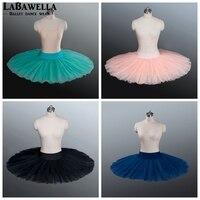 Half Ballet Tutu Green Girls 7layer Hard Tulle Practicing Platter Half Ballet Tutu Kids BT8923