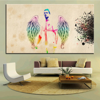 Large Size Printing Oil Painting Cristiano Ronaldo Angel Wall Painting Decor Wall Art Picture For Living