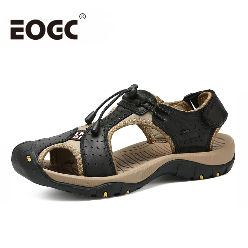 Classic Men Beach Sandals Plus Size 38-46 Genuine Leather Men Sandals Summer Leather Shoes for Beach Outdoor Walking shoes male Classic Men Beach Sandals Plus Size 38-46 Genuine Leather Men Sandals Summer Leather Shoes for Beach Outdoor Walking shoes male