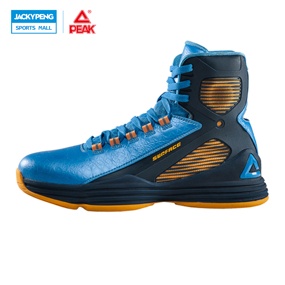 PEAK SPORT GALAXY IV Star Models Men Basketball Shoes Breathable High Top Sneakers Gradient Dual FOOTHOLD Tech Boots EUR 40-48 peak men athletic basketball shoes tech sports boots zapatillas hombres basketball breathable professional training sneakers