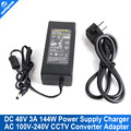 AC 100V-240V 50/60hz 1.8A Converter Adapter DC 48V 3A 144W Power Supply Charger DC 5.5mm x 2.5mm 3000mA + Free Shipping