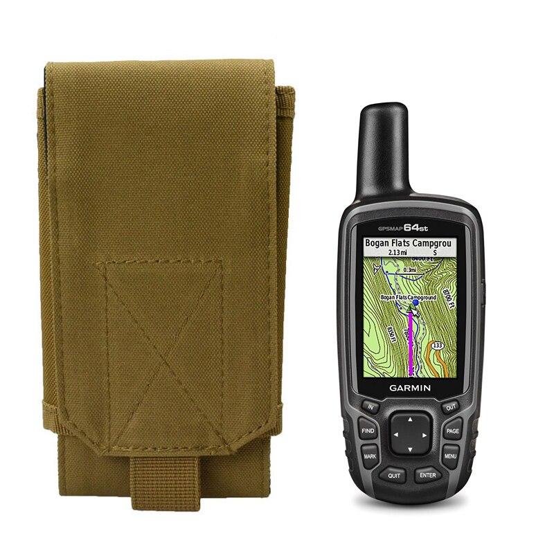 Al aire libre ejército Camo camuflaje Portátil Bolsa cinturón bolsa para senderismo GPS Garmin 60cs 64st 62st 64 62 64cs 62cs accesorio