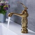 Gisha смеситель для ванной комнаты Классический Латунный Алмазный кран с одной ручкой кран горячей и холодной воды Золотой Кристалл смеситель для умывальника - фото