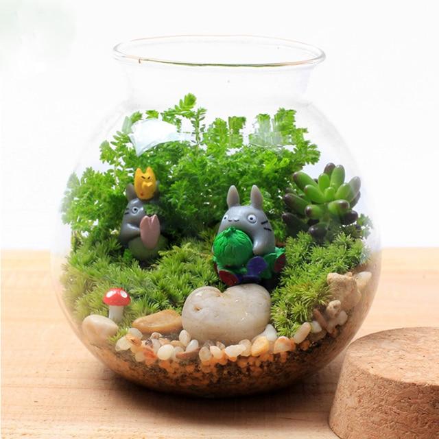 Seal Glass Vase Terrarium Vases Flower Pots Tabletop Glass Candle