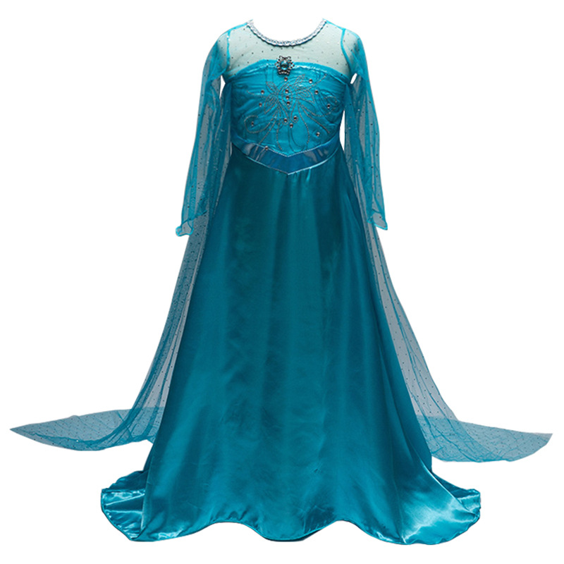 Girls Dresses Princess Cosplay Costumes For Girls Kids FrozenElsa Cosplay Party Dress Wedding Children Fancy Dress