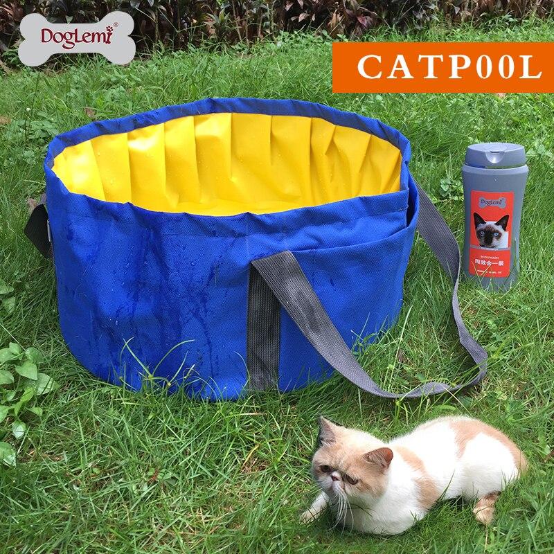 DogLemi Skládací Cat Pool Koupací Vana Pro Malé Psy a Kočky Dvě Barvy K dispozici