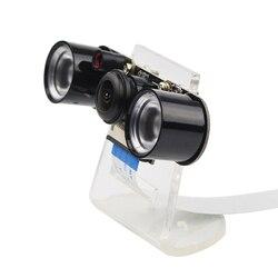 التوت بي 4 نموذج B/3B كاميرا للرؤية الليلية زاوية واسعة للعين السحرية كاميرا 5MP كاميرا ويب 2 الأشعة تحت الحمراء IR LED أضواء حامل أكريليك