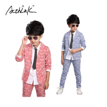 ActhInK Boys New Striped Wedding Suit Brand 2PCS Boys Blazer Pant Dress Suit Kids Formal Party