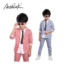 ActhInK Boys New Striped Wedding Suit Brand 2PCS Boys Blazer Pant Dress Suit Kids Formal Party