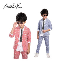 ActhInK Boys New Striped Wedding Suit Brand 2PCS Boys Blazer+Pant Dress Suit Kids Formal Party Wear Children Clothing Set, MC017