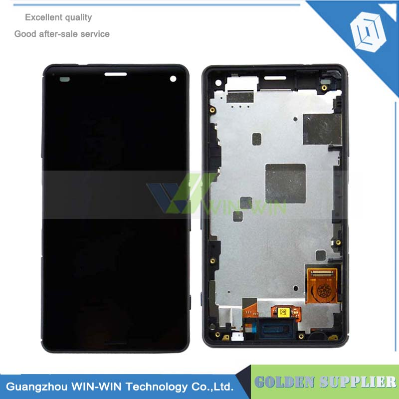 Подробнее о New Lcd With Frame For Sony Xperia Z3 Mini LCD Compact D5803 D5833 LCD Display With Touch Screen Digitizer Assembly 10pcs free dhl black white lcd display touch screen digitizer assembly with frame for sony xperia z3 mini compact d5803 d5833