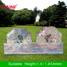 1.5m Bumper Ball 0.8mm PVC Inflatable Bubble Football Zorb Soccer Ball for Children Adult Family Outdoor Game Ball Sport Toys inflatable bubbles soccer globe bumper footballs inflatable body bumper high bounce football customized color