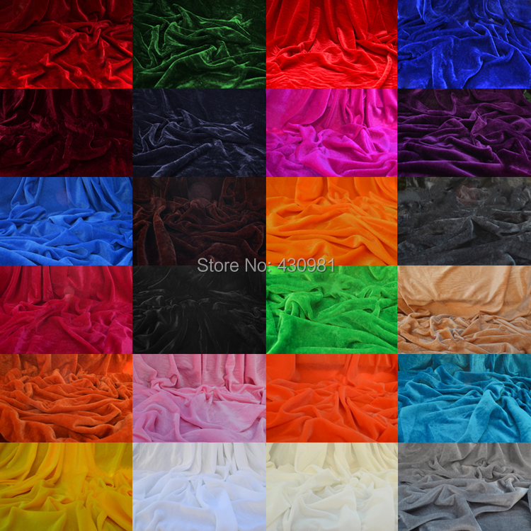 Online buy wholesale velvet fabrics from china velvet for Velvet material for curtains