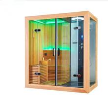 Połączenie sauny i łaźnia parowa z prysznicem M-6035 tanie tanio Panel sterowania komputerowego Z pawęży okna Pokoje sauny Z litego drewna Hemlock Sucha para 2 osób LED ILLUMINATION RADIO