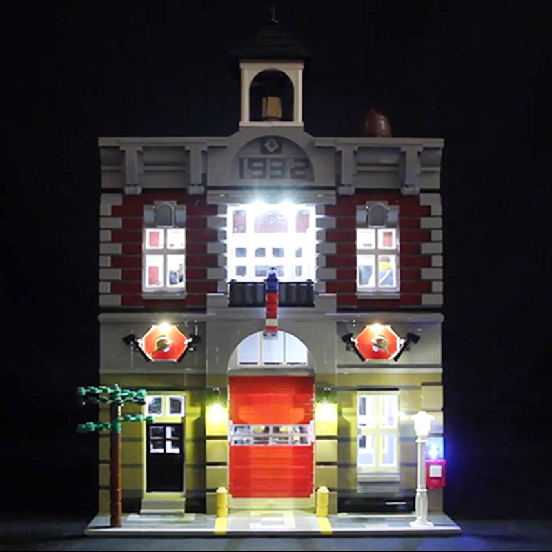 Led Light For <font><b>Lego</b></font> <font><b>10197</b></font> Building Bricks Blocks Creator City Street Fire Brigade Compatible 15004 Toys ( light with Battery box) image
