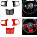 Newest Hot Fashion Steering Wheel Cross Cover Trim Molding Interior Accessories ABS For Jeep Wrangler jk 2007 - 2016