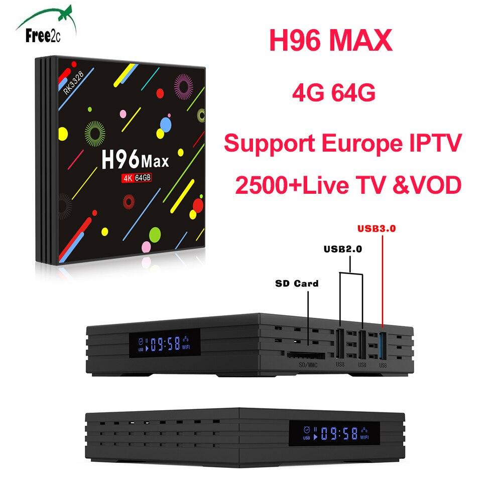 H96 MAX H2 font b Android b font 7 1 4G 64 G set top box
