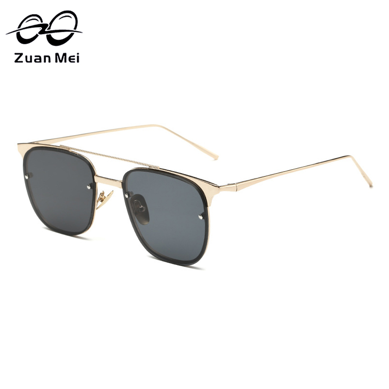 Zuan Mei Brand Design Women s Square Sunglasses Mirror Lens Alloy Frame Sunglasses font b Polarized