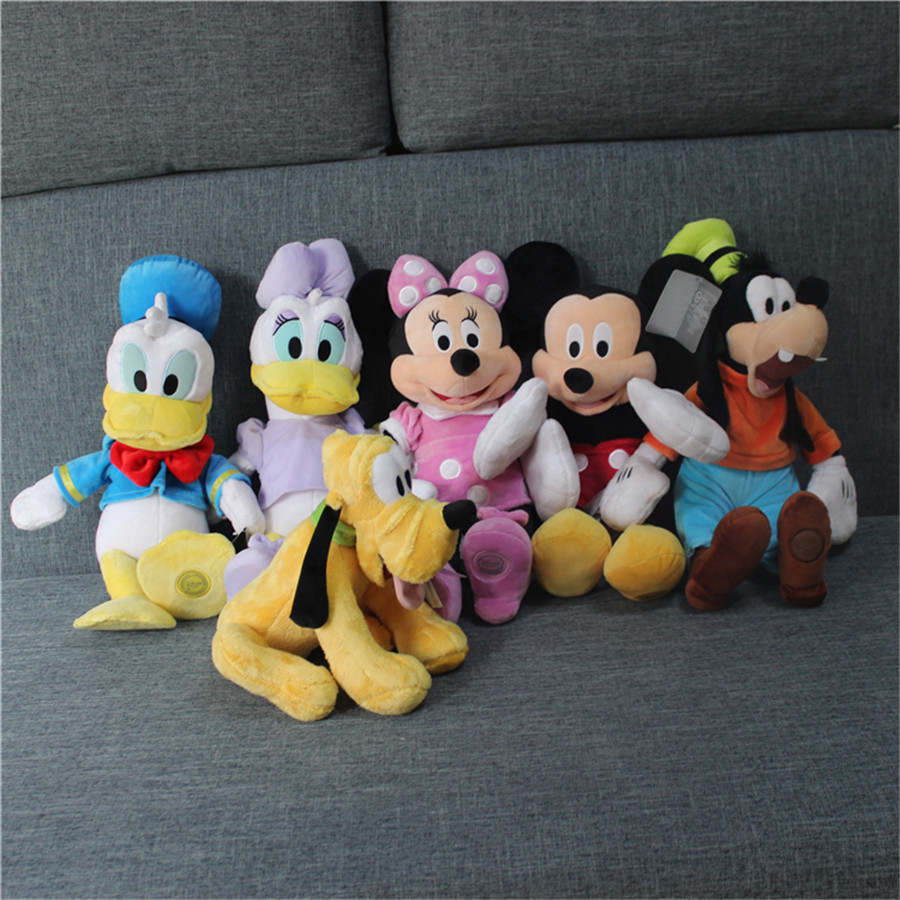"""1 Piece 45cm 17.7"""" Mickey Mouse Plush Toys Doll For Kids Gifts&Birthday Minnie Pluto Goofy Plush"""