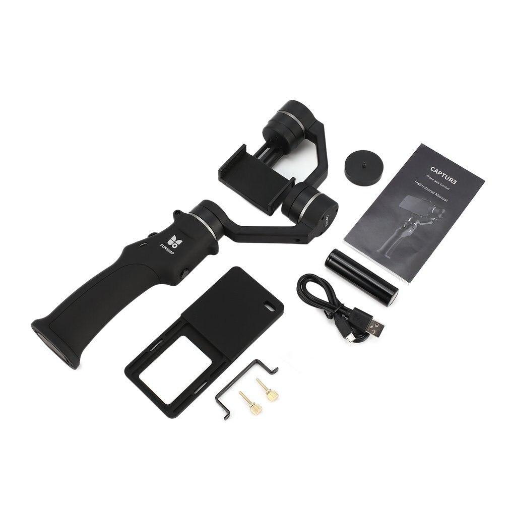Funsnap Capture Selfie Smartphone stabilisateur sans brosse à main 3 axes cardan avec adaptateur de Clip pour GOPRO/YI/SARGO Cam Phone