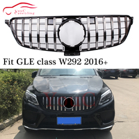 W292 GT grill AMG Front Bumper GT R GTR Style Grille for Mercedes GLE class C292 5 door Coupe SUV 2016 2019