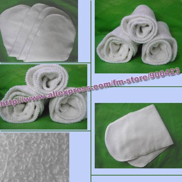 30 шт./лот бамбука лайнеры Booster детские пеленки вставить подгузник Подгузники Ткань-4 слоя материала