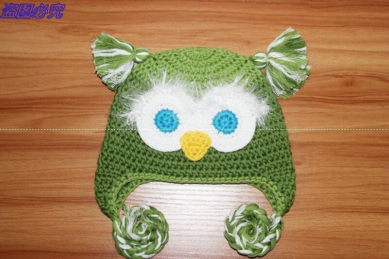 Free Shipping Lovely Handmade Crochet Owl Hat Baby Christmas Hat