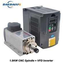 Шпинделя 1.5KW 110 V 220 V Мотор ЧПУ шпинделя ER11 маршрутизатор 1.5KW преобразователя VFD инвертор для фрезерования Гравировка Инструменты
