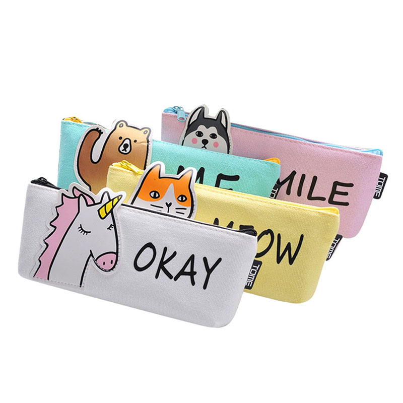 Gift Pencil Box Pen Bag Cute Animal Pencil Case Stationery Case School Office Supplies Hogard