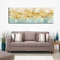 Современная Абстрактная на холсте картина золотые деньги морская волна живопись маслом на холсте плакат Wall Art Изображение для Гостиная Home
