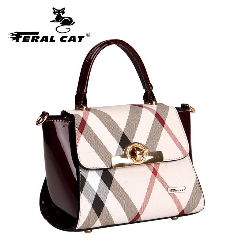 FERAL CAT Women bag Luxury handbags women bags designerPVC Bolsas femininas bolsas de couro Bags handbags women famous brands in Shoulder Bags from Luggage Bags