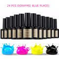 Cheap UV Gel 24pcs/lot Blue Place DORAYMI UV Gel Nail Polish Sets Art Soak off 120 colors Varnish 10ml cosmetics long lasting