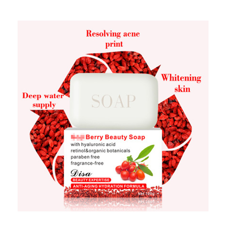Hot-selling Wolfberry Hand Cleaning Soap For Men And Women To Prevent Acarid Facial And Body Care Whitening Hand Living Soap