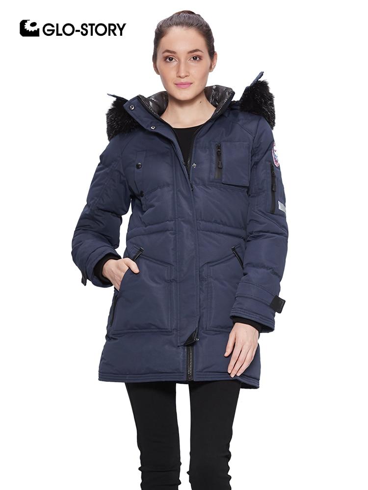 GLO-STORY Women's 2018 Fleece Liner Thick Warm Winter Long   Parkas   Woman Detachable Fur Hooded Outwear Snow Jackets Coats 6426